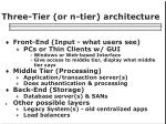 three tier or n tier architecture