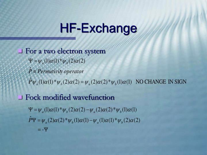 HF-Exchange