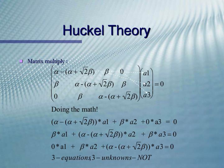 Huckel Theory