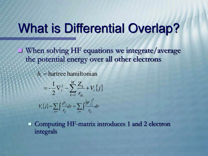 What is Differential Overlap?