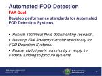 automated fod detection faa goal