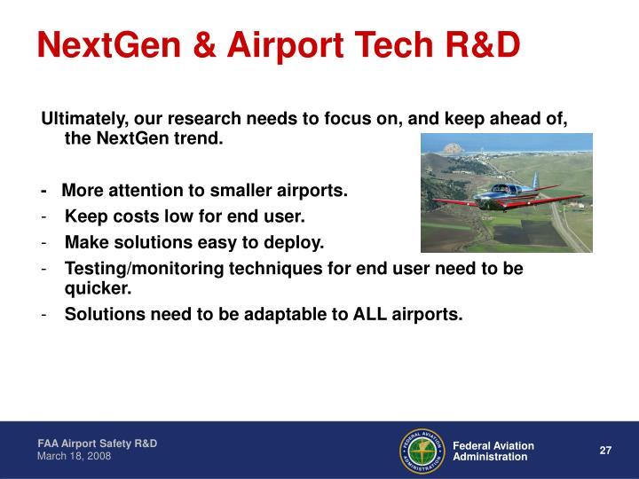 NextGen & Airport Tech R&D