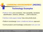 learning environment micro