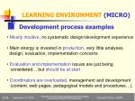 learning environment micro2