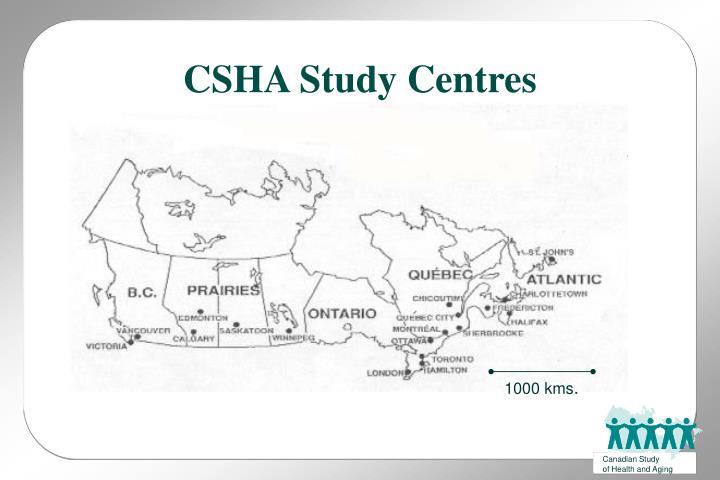 CSHA Study Centres