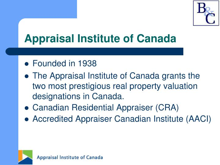 Appraisal Institute of Canada