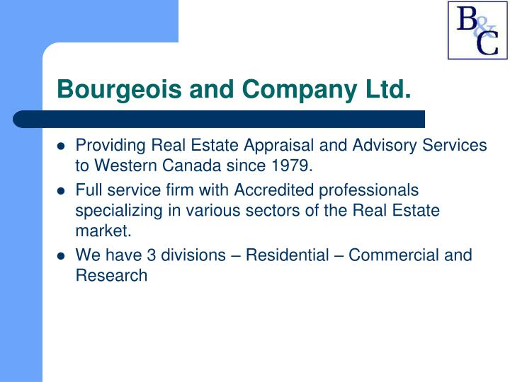 Bourgeois and company ltd