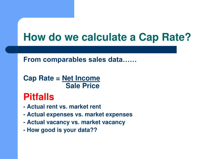 How do we calculate a Cap Rate?