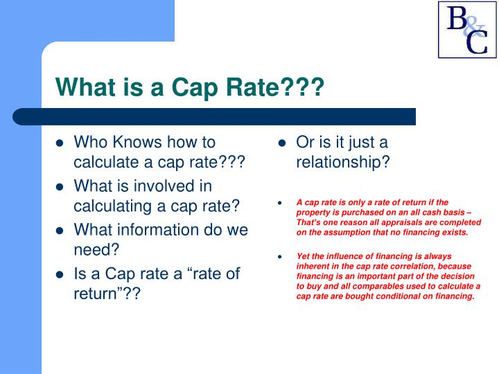 Who Knows how to calculate a cap rate???
