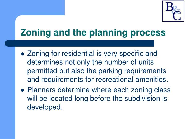 Zoning and the planning process