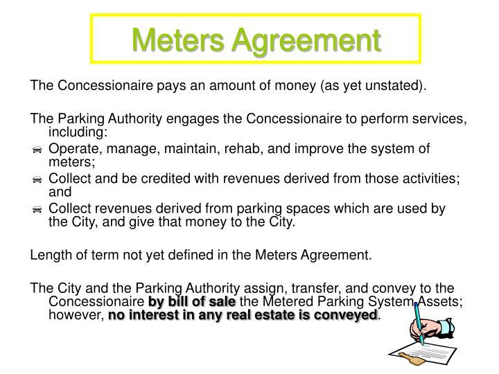 Meters Agreement