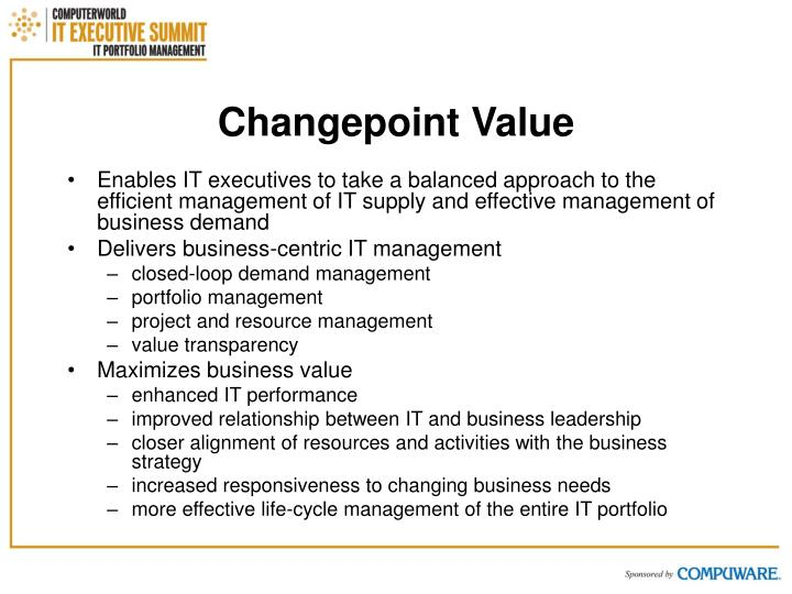 Changepoint Value