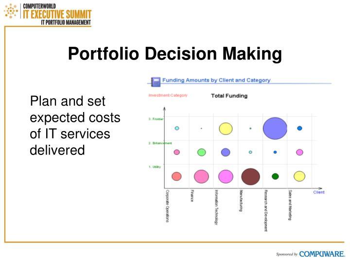 Portfolio Decision Making