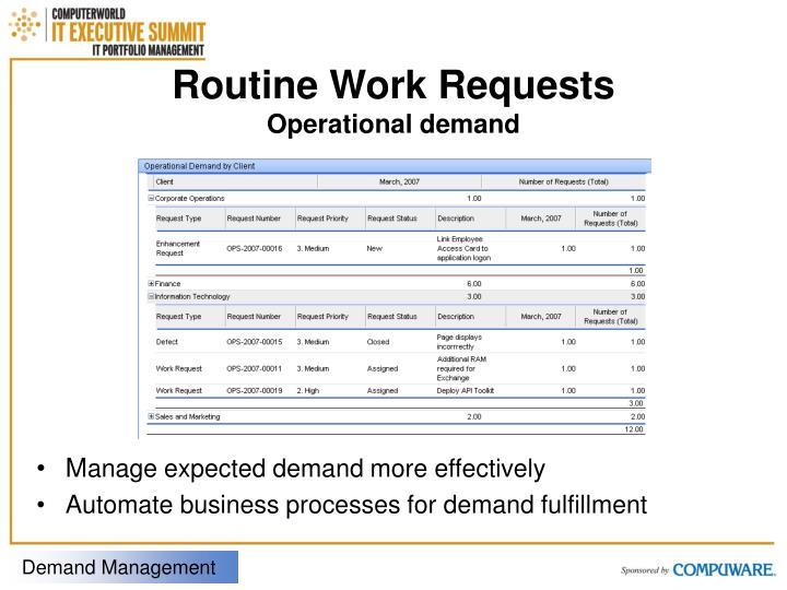 Routine Work Requests