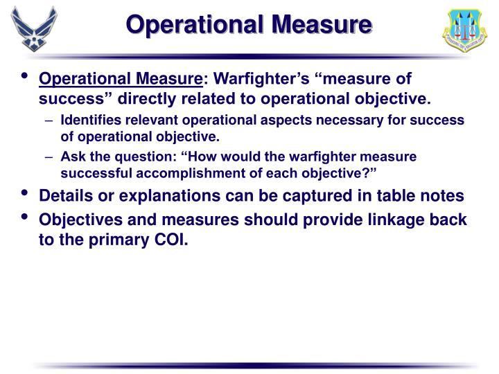 Operational Measure