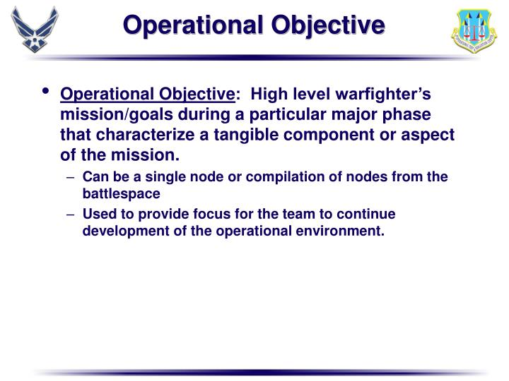 Operational Objective
