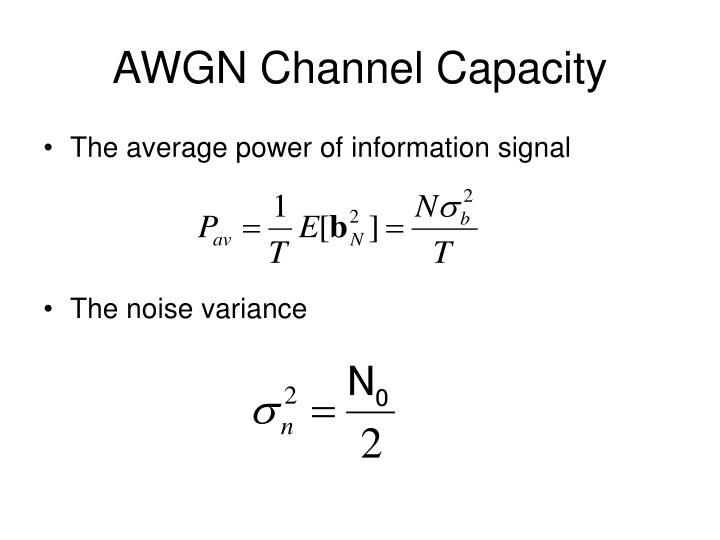 AWGN Channel Capacity