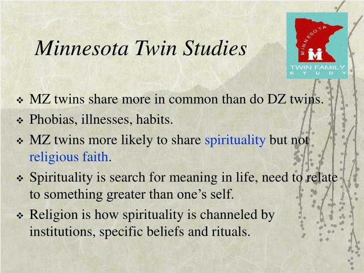 Minnesota Twin Studies