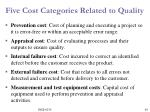 five cost categories related to quality