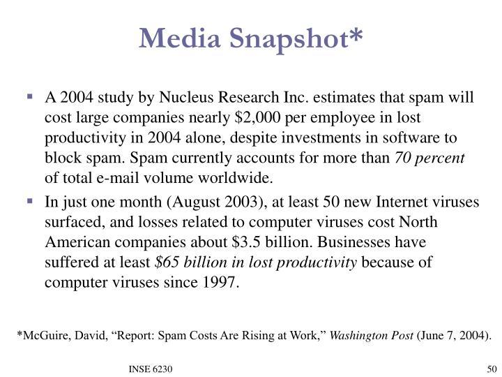 Media Snapshot*