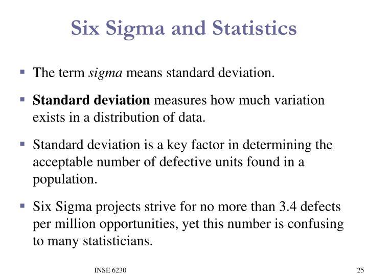Six Sigma and Statistics