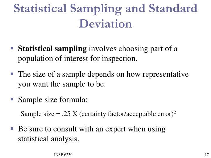 Statistical Sampling and Standard Deviation