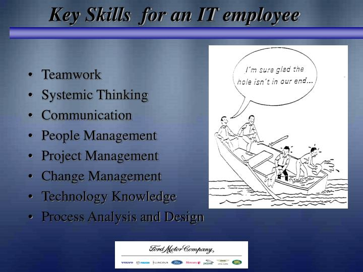 Key Skills  for an IT employee