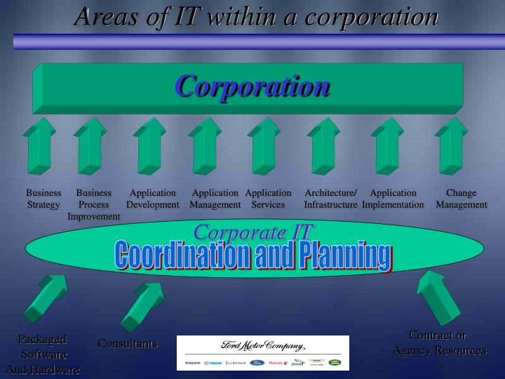 Areas of IT within a corporation