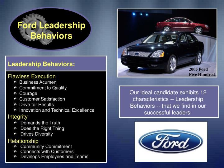 Ford Leadership Behaviors