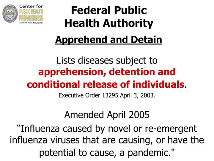 Federal Public                          Health Authority
