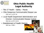 ohio public health legal authority