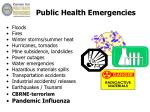 public health emergencies