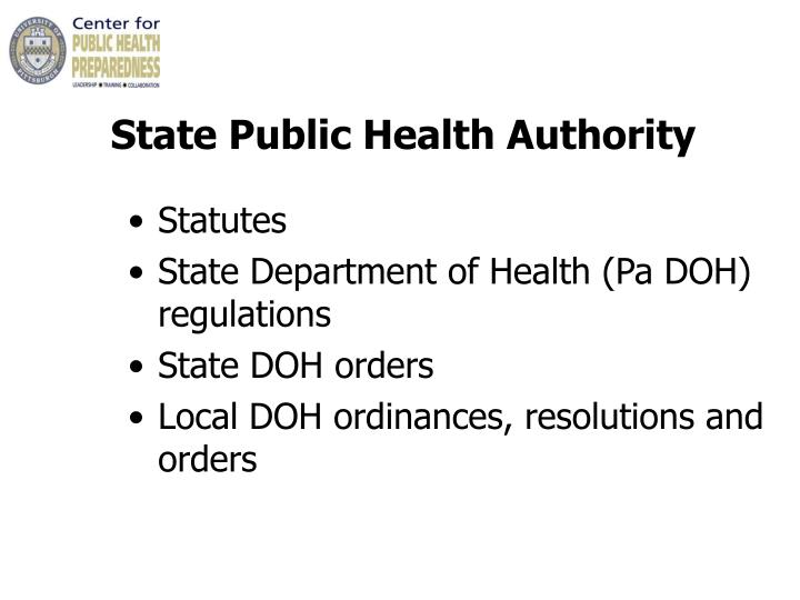 State Public Health Authority