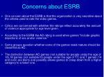 concerns about esrb