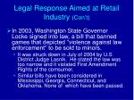 legal response aimed at retail industry con t1