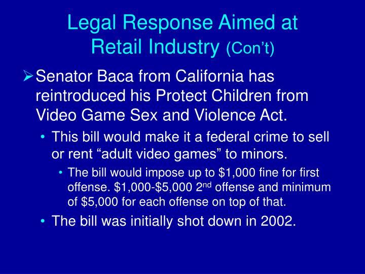 Legal Response Aimed at