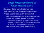 legal response aimed at retail industry con t2