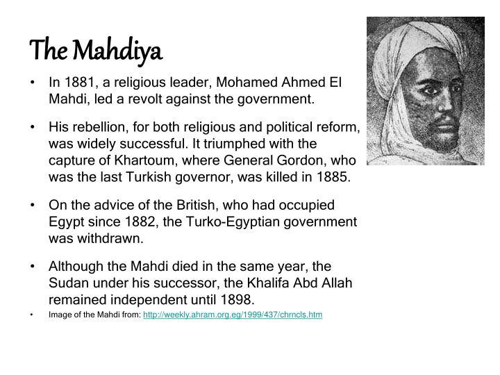 The Mahdiya