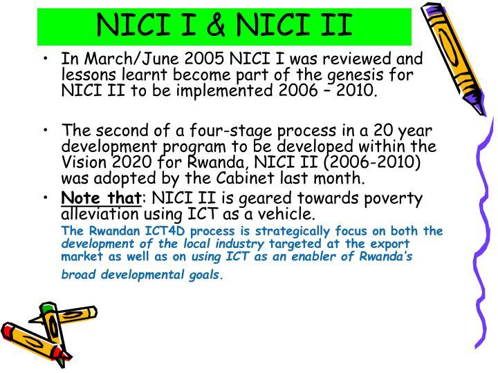 NICI I & NICI II