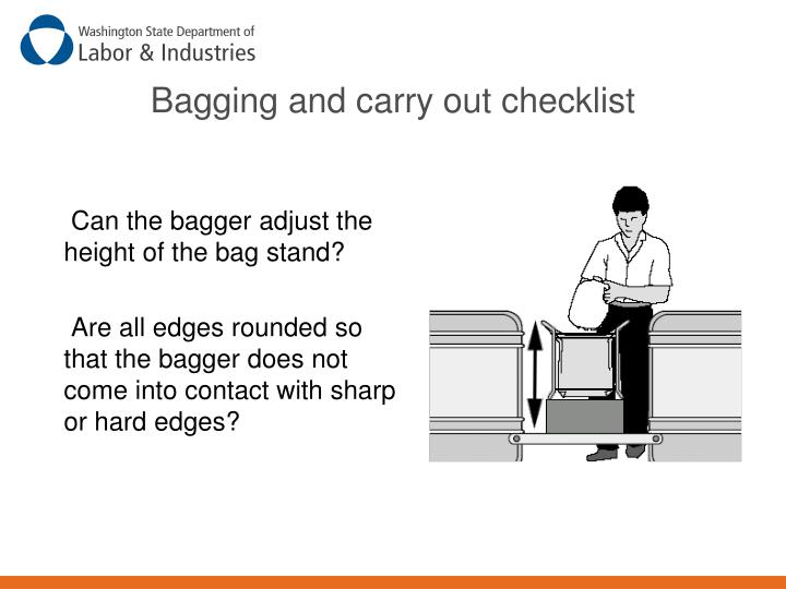 Bagging and carry out checklist