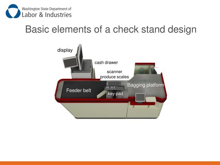 Basic elements of a check stand design