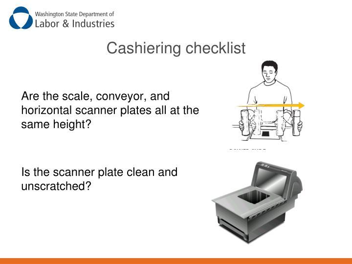 Cashiering checklist