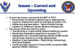 issues current and upcoming