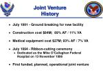 joint venture history
