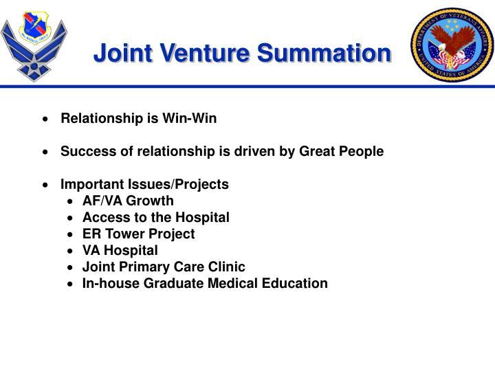 Joint Venture Summation