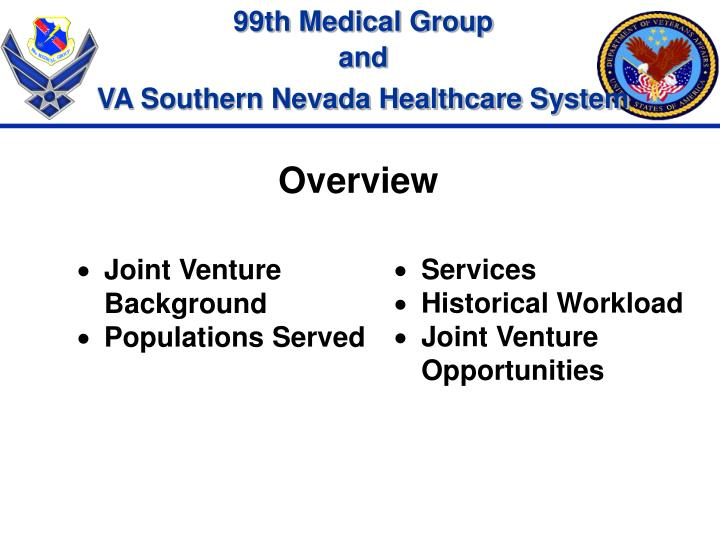 Joint Venture Background