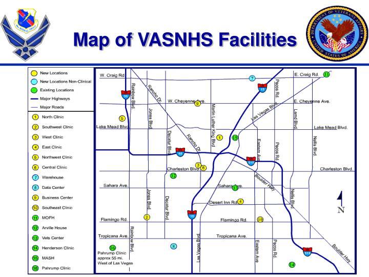 Map of VASNHS Facilities