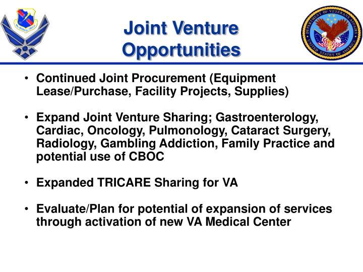 Joint Venture Opportunities