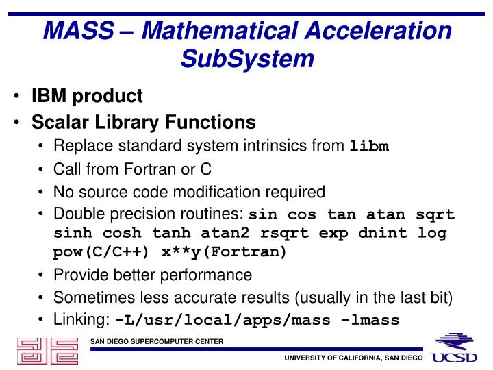 MASS – Mathematical Acceleration SubSystem