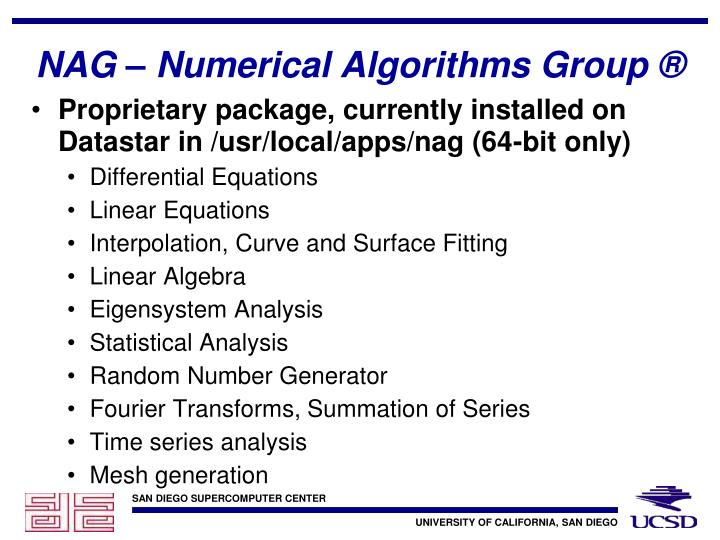 NAG – Numerical Algorithms Group ®